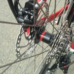rear hub with hydraulically brakes