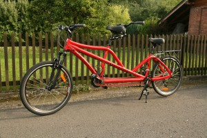 Gamal is a tandem with low step frame which can be produced as a folding tandem as well.