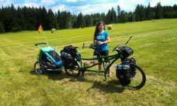 tandem s dětským vozíkem